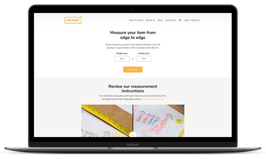 New measurement input page FrameIT