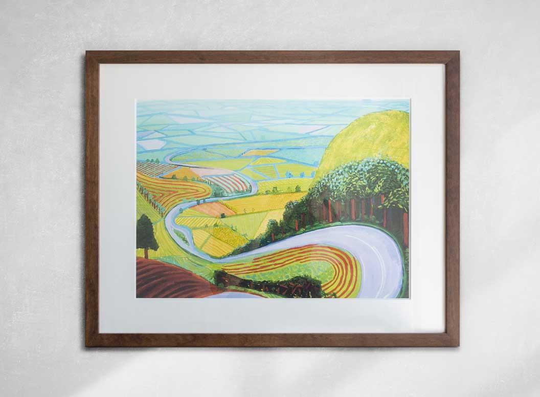 david hockney garrowby hill print